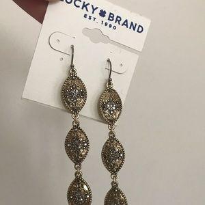 Lucky Brand linear drop earrings